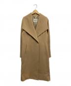 ROPE()の古着「ウールカシミヤベルテッドコート」|キャメル