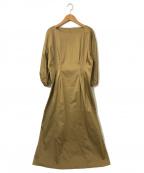 GALLARDA GALANTE(ガリャルダガランテ)の古着「コットンサテンワンピース」 ベージュ