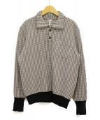 LOEWE(ロエベ)の古着「ニットポロシャツ」|グレー
