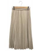 ()の古着「エコスエードプリーツスカート」 ベージュ