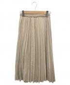 ANAYI(アナイ)の古着「エコスエードプリーツスカート」|ベージュ
