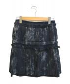 ()の古着「プリーツスカート」|ブラック