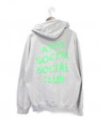 anti social social CLUB(アンチソーシャルソーシャルクラブ)の古着「ジップパーカー」 グレー