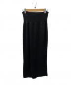 EVERYDAY I LIKE(エヴリデイ アイ ライク)の古着「ハーフミラ ニットスカート」 ブラック