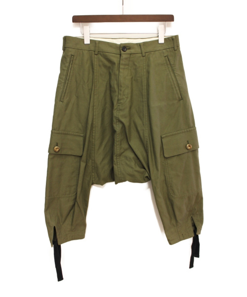 COMME des GARCONS HOMME PLUS(コムデギャルソン オムプリュス)COMME des GARCONS HOMME PLUS (コムデギャルソンオムプリュス) サルエルカーゴパンツ オリーブ サイズ:XSの古着・服飾アイテム