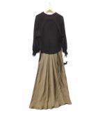 styling/ kei shirahata(スタイリング / ケイ シラハタ)の古着「ニットドッキングワンピース」 ブラウン