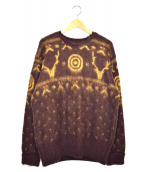 south2 west8(サウスツーウエストエイト)の古着「Loose Fit Sweater-Mohair」 パープル