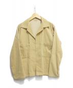 AURALEE(オーラリー)の古着「コーデュロイシャツジャケット」|イエロー