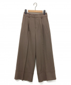 HER LIP TO(ハーリップトゥ)の古着「Pleated Wide-Leg Pants」|シュガーブラウン