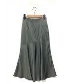 ()の古着「Paneled Satin Midi Skirt」|forest
