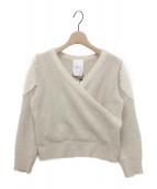 ()の古着「Romantic Pearl Knit Pullover」|ウィンターホワイト