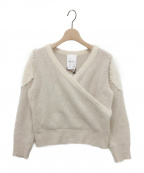 HER LIP TO(ハーリップトゥ)の古着「Romantic Pearl Knit Pullover」|ウィンターホワイト