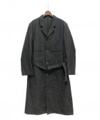 Yohji Yamamoto pour homme(ヨウジヤマモトプールオム)の古着「シワ加工ベルテッドコート」|グレー