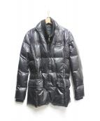 AKM(エイケイエム)の古着「レイヤードダウンジャケット」|ブラック