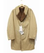 Engineered Garments(エンジニアードガーメンツ)の古着「ショールカラーリバーシブルコート」|カーキ×ブラウン