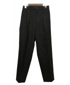 MARKAWARE(マーカウェア)の古着「FRONT PLEATS PEGTOP ORGANIC WO」|ブラック
