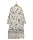 Ameri VINTAGE(アメリビンテージ)の古着「REHEMA KEY NECK DRESS」|ベージュ