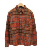 JUNYA WATANABE COMME des GARCONS MAN(ジュンヤワタナベコムデギャルソンマン)の古着「中綿シャツジャケット」|オレンジ
