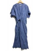 DOU BOCHI(ドゥボキ)の古着「リネンワンピース」|ブルー
