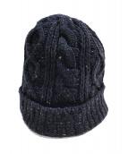 ()の古着「ニット帽」 ネイビー