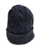 CLOVER(クローバー)の古着「ニット帽」 ネイビー