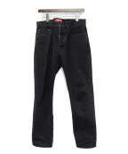 Supreme()の古着「Stone Washed Black Slim Jeans」|ブラック