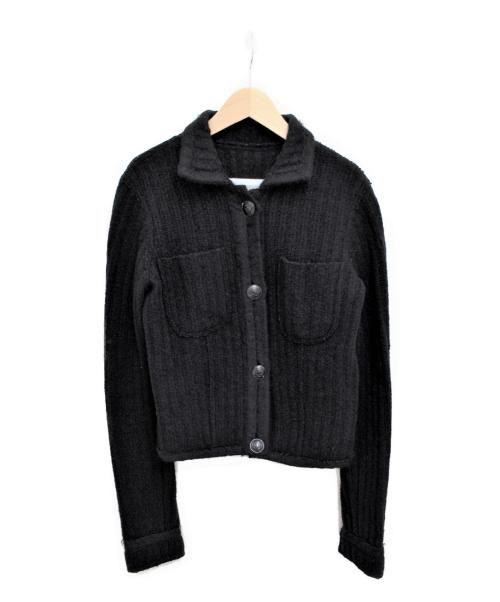 CHANEL(シャネル)CHANEL (シャネル) ココマークボタンウールジャケット ブラック サイズ:34の古着・服飾アイテム