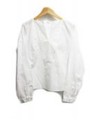ENFOLD(エンフォルド)の古着「スキッパーブラウス」|ホワイト