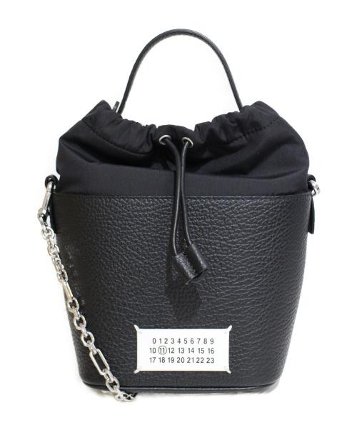 Maison Margiela(メゾンマルジェラ)Maison Margiela (メゾンマルジェラ) 21SS テクスチャードレザーバケットバッグ ブラック サイズ:-の古着・服飾アイテム
