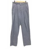 ()の古着「シアサッカー3タックパンツ」 スカイブルー