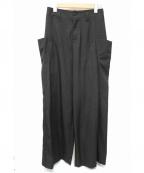 J.W. ANDERSON(ジェイダブリューアンダーソン)の古着「ビッグポケットワイドパンツ」|ブラック