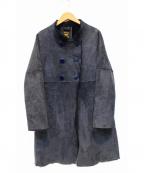 OWEN BARRY(オーエンバリー)の古着「ムートンコート」|ネイビー