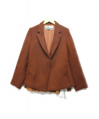 CABANA(カバナ)の古着「ショートドレープジャケット」|ブラウン