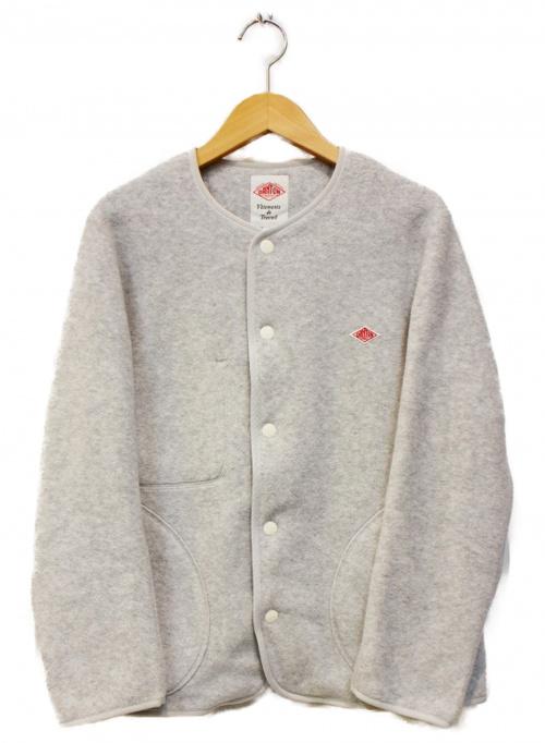DANTON(ダントン)DANTON (ダントン) ノーカラーフリースジャケット グレー サイズ:34 20AWの古着・服飾アイテム
