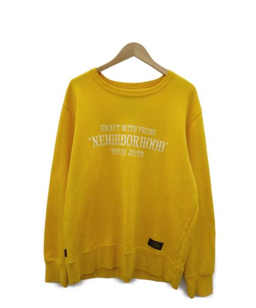 NEIGHBORHOOD(ネイバーフッド)NEIGHBORHOOD (ネイバーフッド) PAP / EC-CREW . LS イエロー サイズ:Lの古着・服飾アイテム