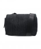 kawa-kawa(カワカワ)の古着「デニムショルダーバッグ」|ブラック