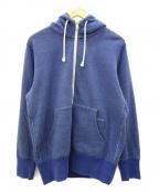 LOOPWHEELER(ループウィラー)の古着「ジップパーカー」|ブルー