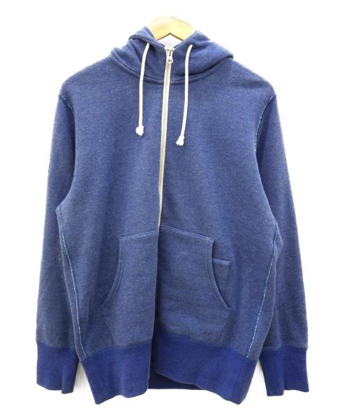 LOOPWHEELER(ループウィラー)LOOPWHEELER (ループウィラー) ジップパーカー ブルー サイズ:Mの古着・服飾アイテム
