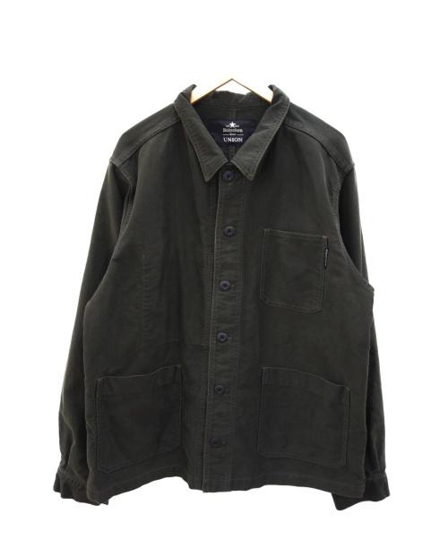 UNION(ユニオン)UNION (ユニオン) HEINEKEN 100 CHORE COAT ブラック サイズ:Lの古着・服飾アイテム