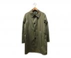 ()の古着「ステンカラーコート」 オリーブ