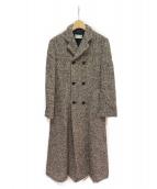 robe de chambre COMME des GARCONS(ローブドシャンブルコムデギャルソン)の古着「ロングスリットコート」 ブラック×ホワイト
