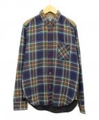 JUNYA WATANABE COMME des GARCONS MAN(ジュンヤワタナベコムデギャルソンマン)の古着「切替チェックシャツ」|ネイビー