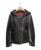 DOUBLE STANDARD CLOTHING(ダブルスタンダードクロージング)の古着「ライダースジャケット」 ブラック