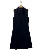 tricot COMME des GARCONS(トリココムデギャルソン)の古着「ウールギャバノースリーブワンピース」|ブラック