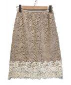 ()の古着「リバーレースタイトスカート」|ベージュ