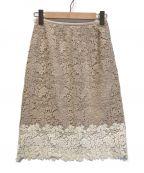 ANAYI(アナイ)の古着「リバーレースタイトスカート」|ベージュ