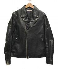 JOURNAL STANDARD (ジャーナルスタンダード) カウレザーWライダースジャケット ブラック サイズ:L