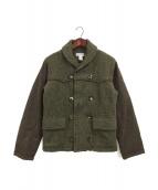 COMME des GARCONS SHIRT(コムデギャルソンシャツ)の古着「ショールカラーツイードジャケット」|ブラウン