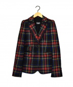 D&G(ドルチェ&ガッバーナ)の古着「タータンチェックジャケット」|ブラック
