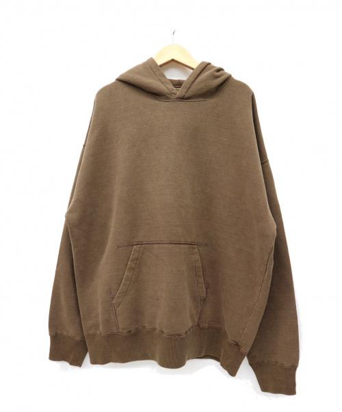DEUXIEME CLASSE(ドゥーズィエム クラス)Deuxieme Classe (ドゥーズィエムクラス) プルオーバーパーカー ブラウン サイズ:表記なしの為、実採寸をごください。 「Sweat パーカー」の古着・服飾アイテム